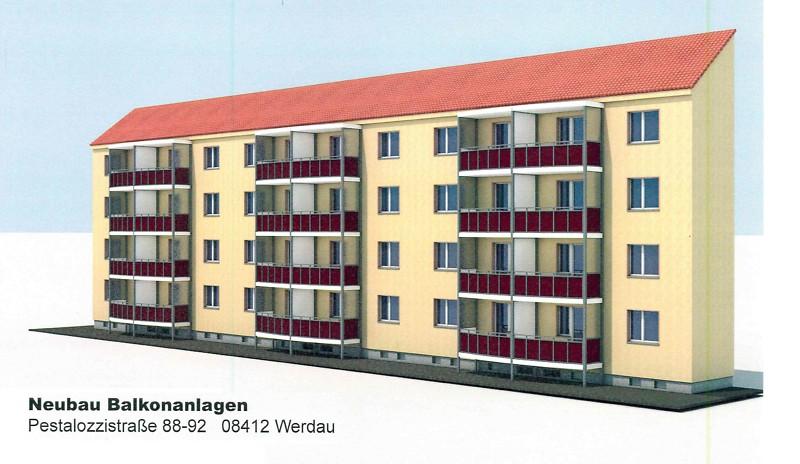 Balkonanbau Pestalozzistr. 88-92