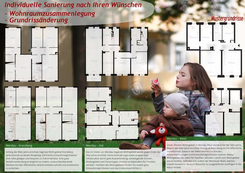Grundrissänderung - Wohnraumzusammenlegung