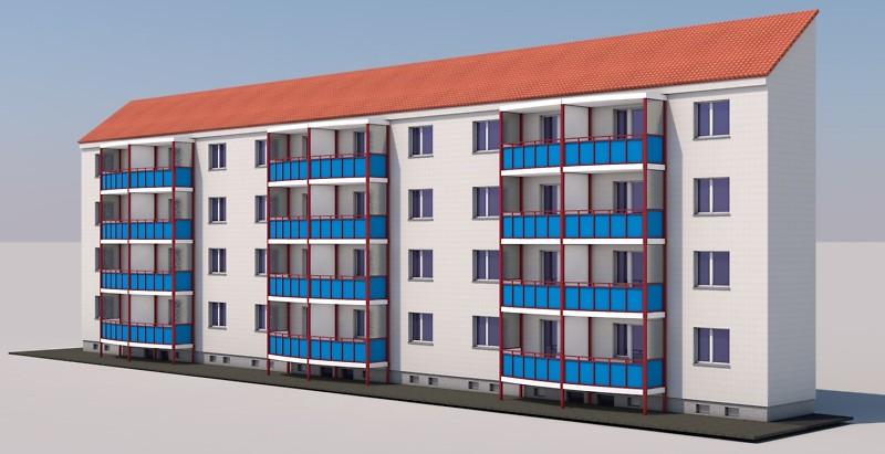Balkonanbau Ziegelstr. 52-56